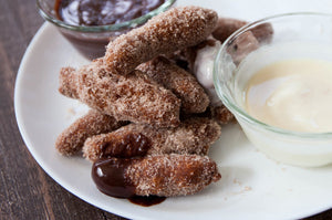 I was so excited when Disney Parks released their famous Disney Churros Recipe that I had to recreate it for myself! The family and I have had major Disney withdrawals and these making Homemade Disney Churros was the touch of Disney Magic we needed