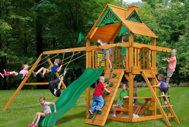 Don't miss this deal on the Cedar Summit Wooden Swing Set – you can save over $700 today