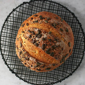 This delicious Pumpkin No Knead Bread looks like you've been slaving in the kitchen for hours but really is so easy to make