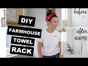 Products used to create a my farmhouse towel rack: Farmhouse black hook -