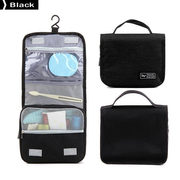 Portable Hanging Foldable Beauty Makeup Bag Travel Cosmetic Bath Toiletries Organizer Suitcase Bag