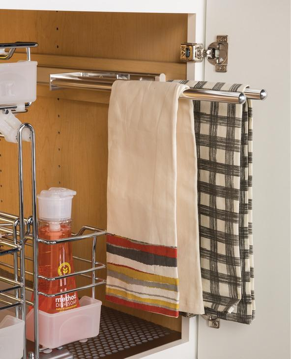 Hafele Towel Rack Pull-Out with 2 Bars, Extendable