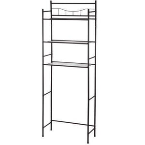 Mainstay.. 3-shelf Bathroom Space Saver Storage Organizer Over the Rack Toilet Cabinet Shelving Towel Rack in Oil-Rubbed Bronze/Black Finish