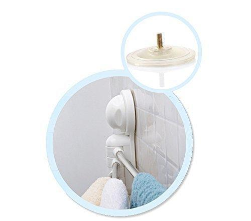 Towel Rack, Arricastle 4 Bar towel Rack with Suction Cup, Stainless Steel Swing Towel Rack Hanger Holder Organize for Bathroom and Kitchen (towel rack)