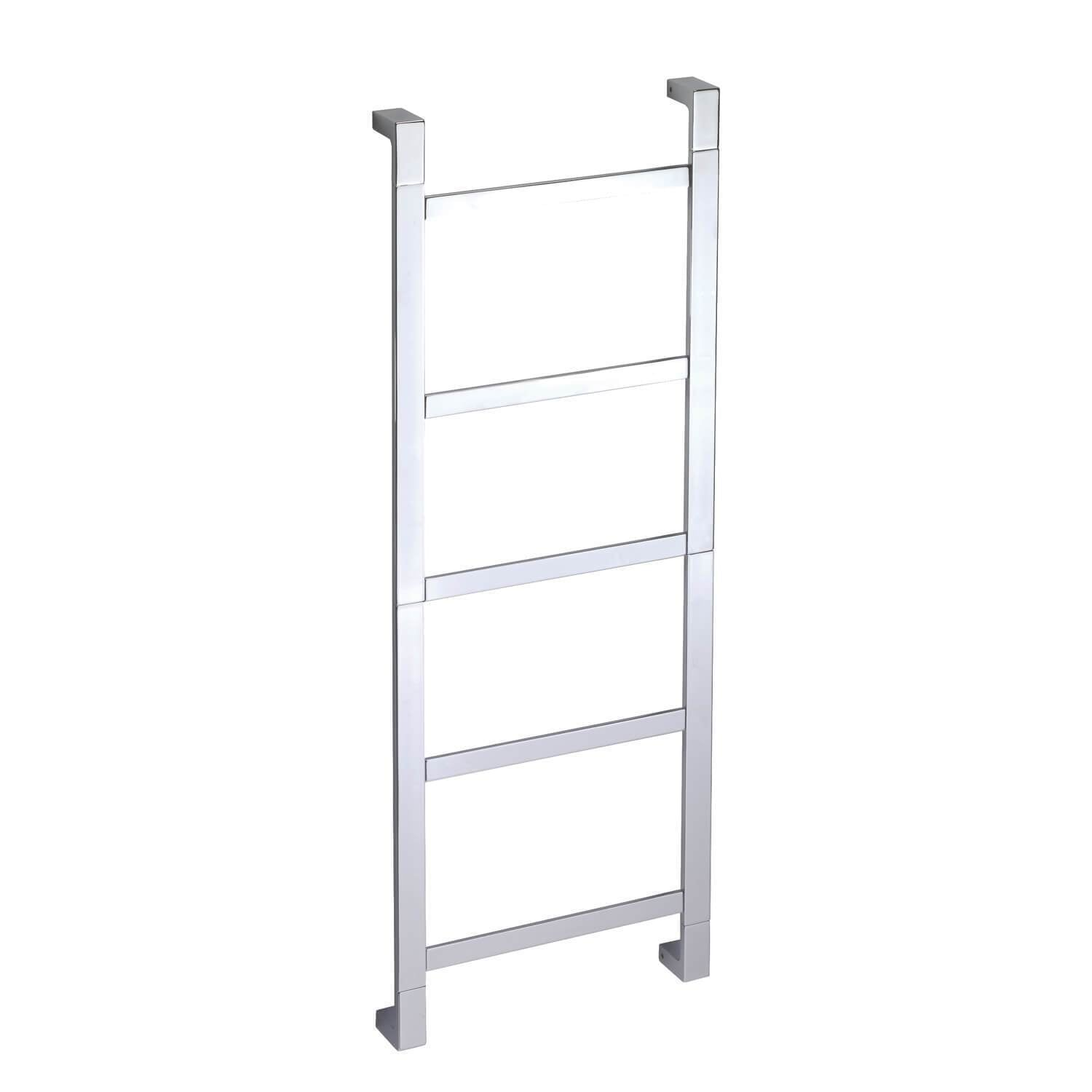 Pomdor Jack Wall 17.7 in Towel Rack Ladder for Bathroom Spa Towel Hanger Chrome