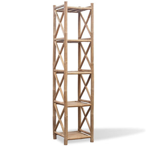 5-Tier Square Bamboo Shelf