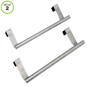 Evelots Dish/Towel Bar Holders-In/Out Cabinet Door-Stainless Steel-No Tool-Set/2