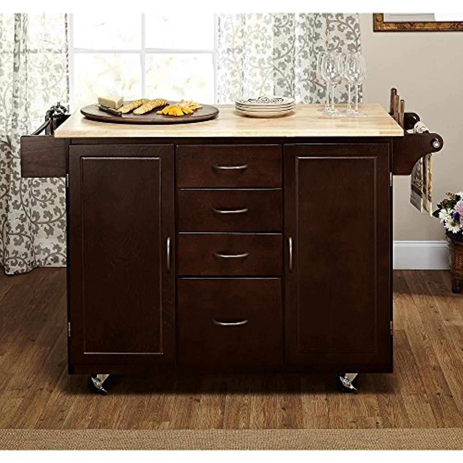 Country Mobile Island Kitchen Cart