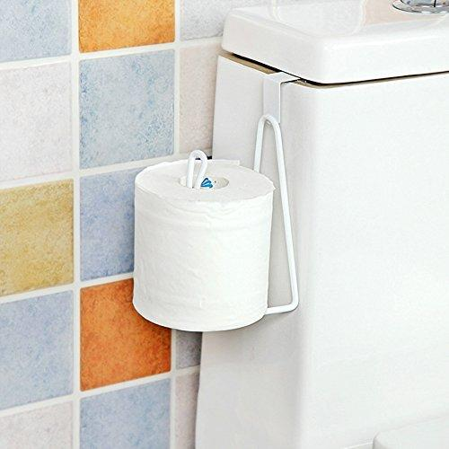 AddGrace Toilet Bath Paper Holder Over Tank Double Roll Tissue Paper Storage for Bathroom Kitchen (1 Hook)