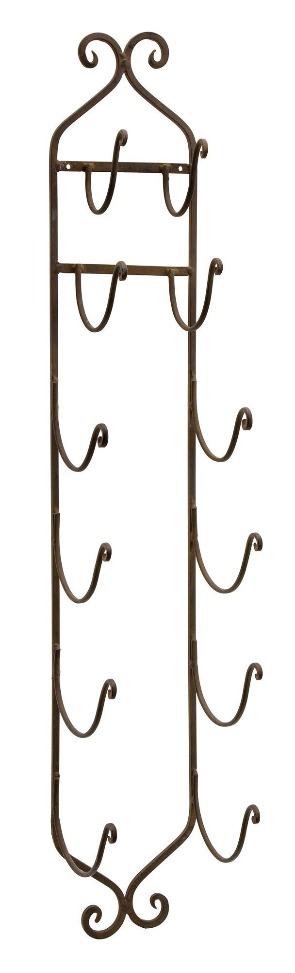 Imax 9748 Towel/Wine Rack in Dark Brown - Compact, Wall Mounted Metal Display Rack for Organizing Towels, Wine Bottles, Hats. Home Storage and Organizing