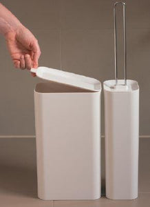 2-in-1 Toilet Brush + Waste Bin