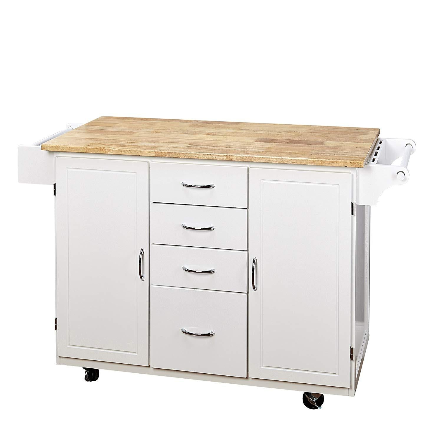 Country Cottage Rolling Kitchen Cart