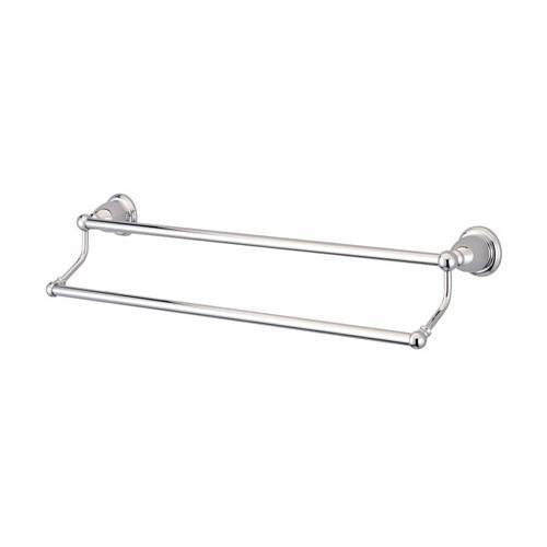 "Bathroom Accessories Chrome 24"" Double Towel Bar Dual Towel Rack BA1753C"
