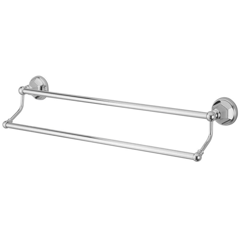 "Bathroom Accessories Chrome 24"" Double Towel Bar Dual Towel Rack BA4813C"