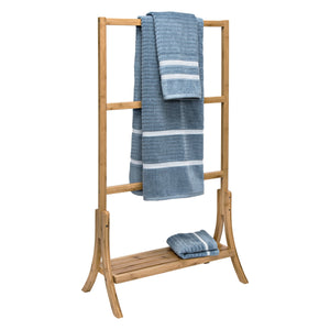 3-Tier Bamboo Towel Rack