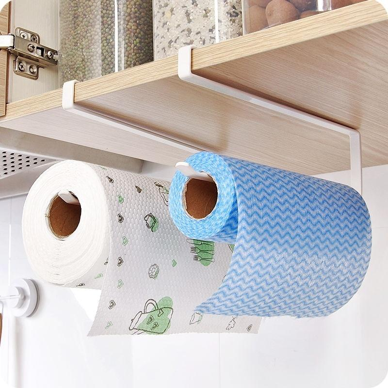Under Cabinet Paper Towel Holder Roll Paper Towel Rack Stainless Metal Organizer