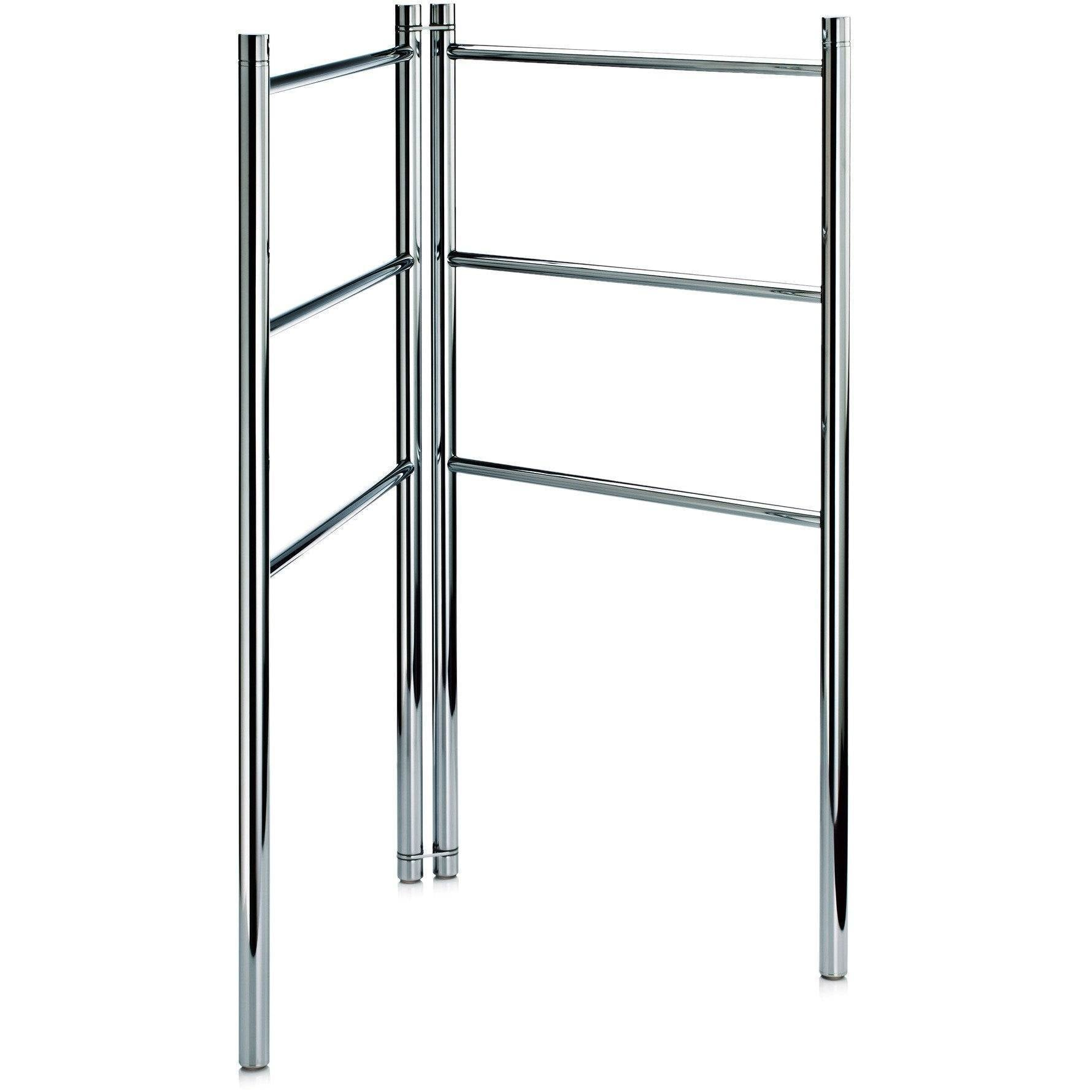 DWBA Freestanding Towel Ladder Bathroom Rack Stand Towel Holder, Foldable. Chrome