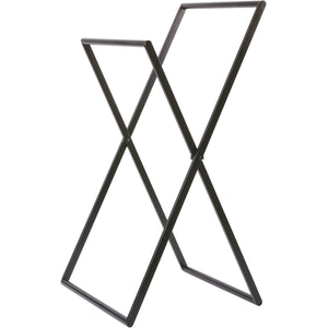 Icon Standing Folding Towel Bathroom Rack Stand Double Bar Towel Holder 17.5''
