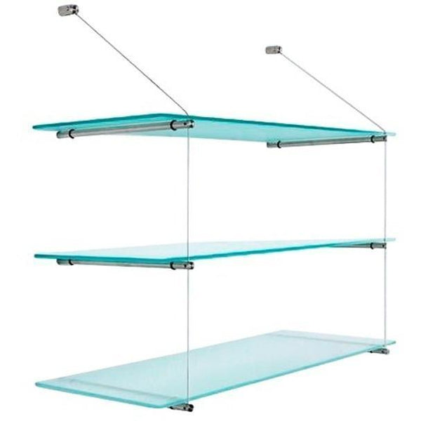 "PSBA Wall Glass Shelf Towel Rack 23.6"" Storage Organizer Stainless Steel Matte - More Sizes Available"