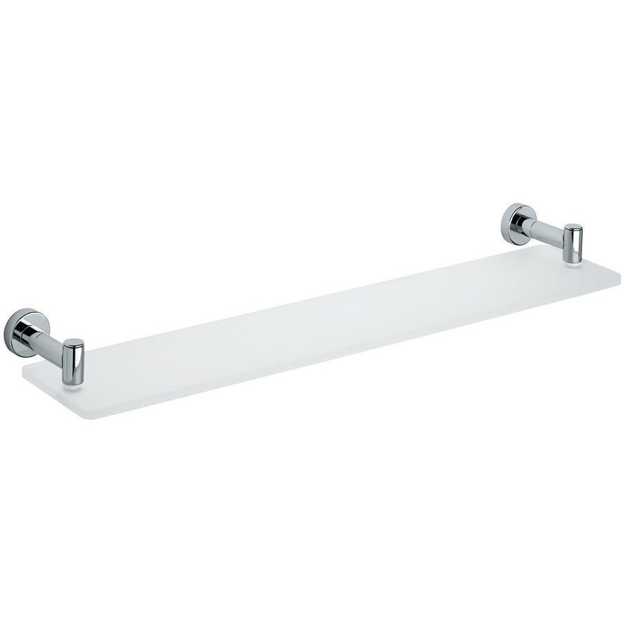 BA Tecno Wall Mounted Frosted Glass Storage Shelf Organizer Towel Rack 24""