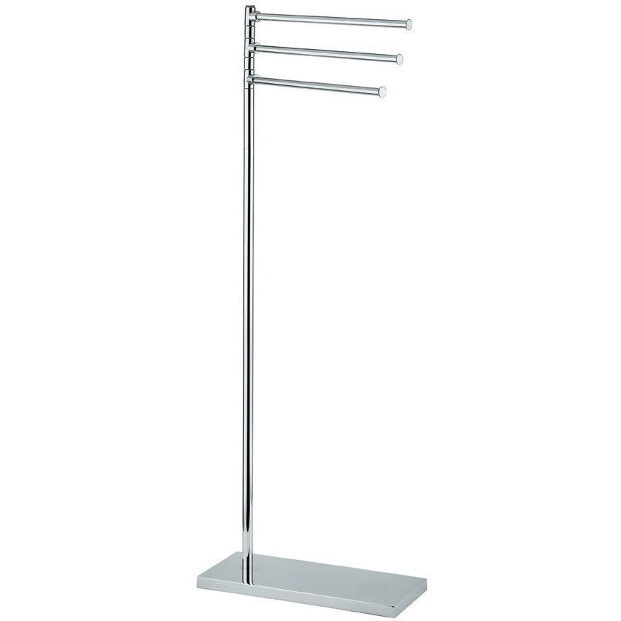 BA Standing 3-Tier Bathroom Towel Bar Rail Holder Rack - Brass
