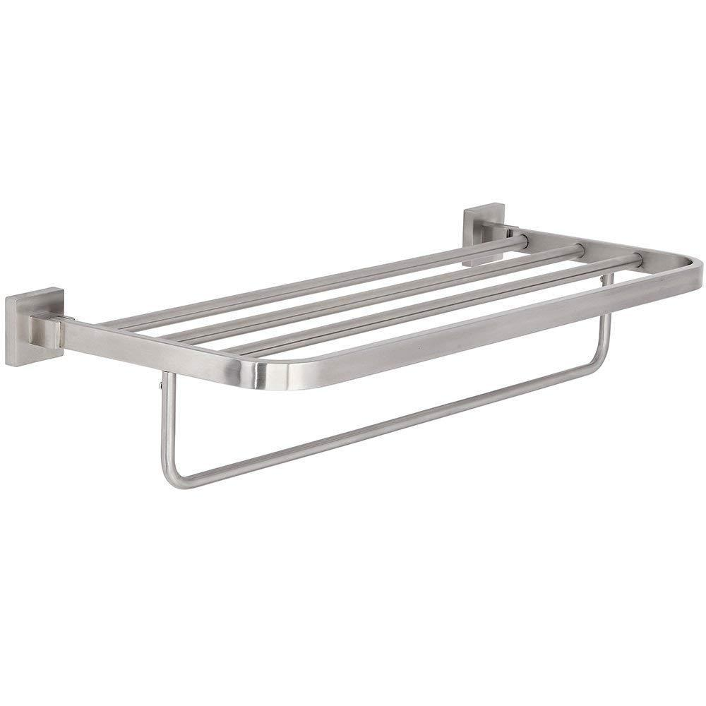 Modern Flat Brushed Nickel Towel Rack