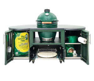 "Big Green Egg 76"" Custom Cooking Island"