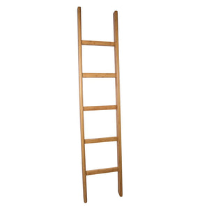 "65"" Freestanding Bamboo Ladder Towel Rack"