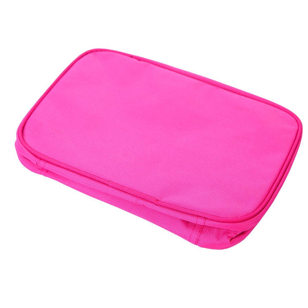 HDE Personal Travel Shower Organizer Hanging Toiletry Wash Bag Bathroom Tote (Hot Pink)
