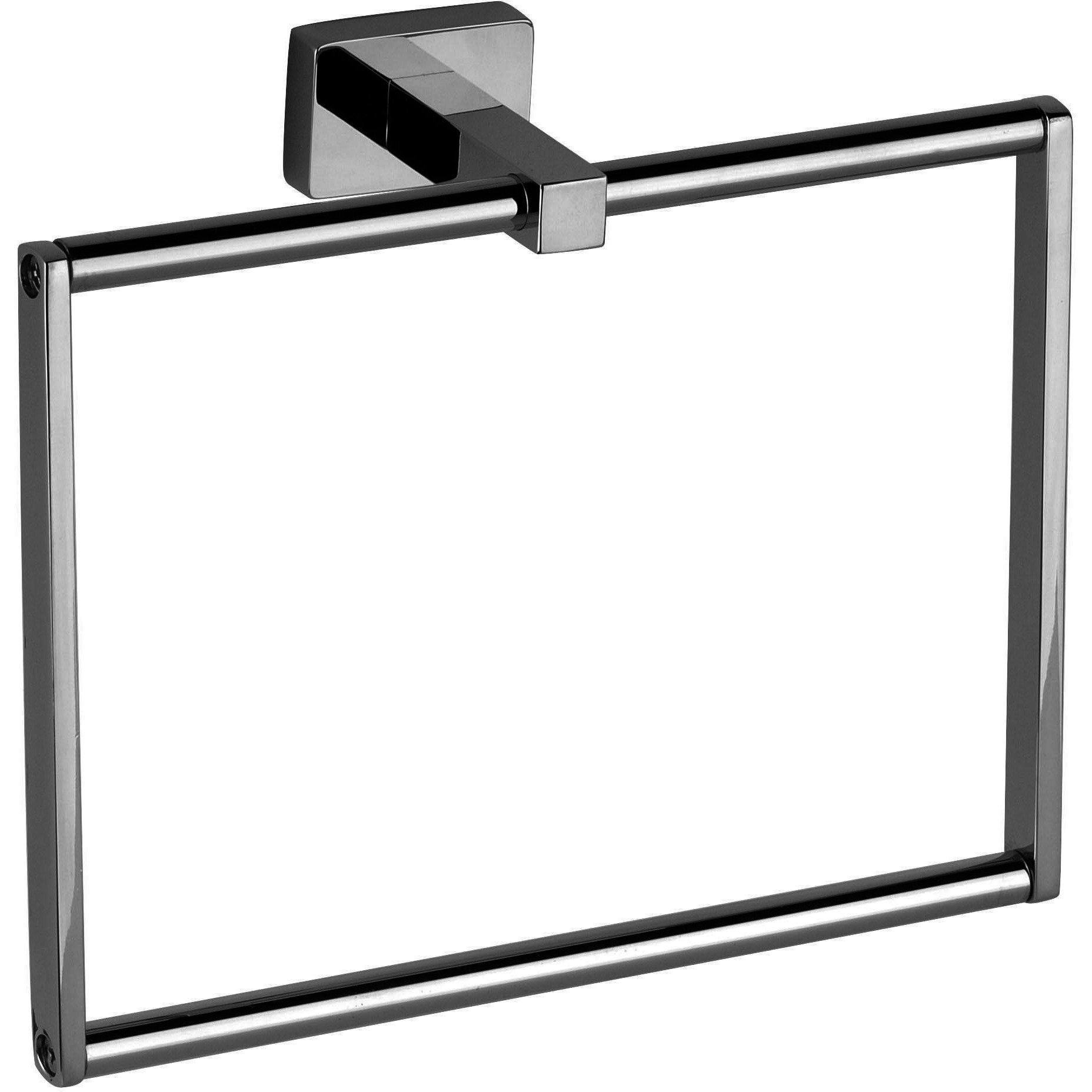 DI NY Square Towel Bar Rail Holder Hanger for Bathroom Towel Rack Chrome - 8.3-inch