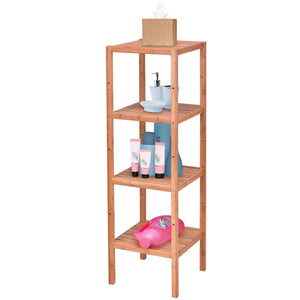 4 Tier Bamboo Storage Shelving Unit Bathroom Towel Rack Shelf Multifunction Living Room Storage