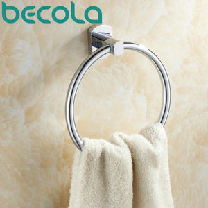 Becola Brass Chrome Towel Ring Bathroom Accessories Towel Rack B16005