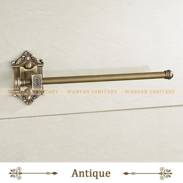 Antique Brass Single Towel Bar Towel Rack Holder In The Bathroom Wall Mounted Towel Ring Bathroom Accessories Wf71220