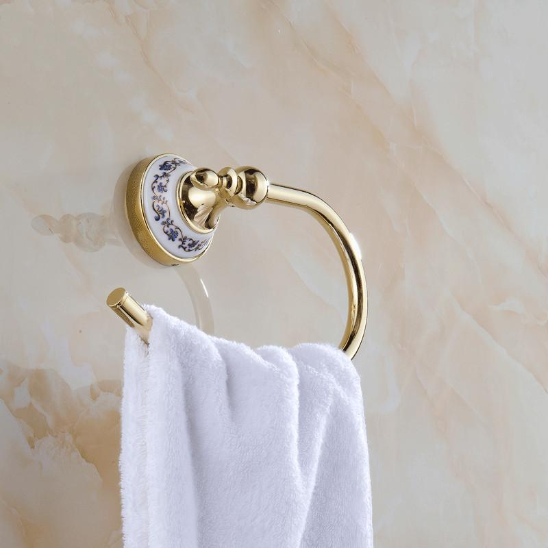Gold Chrome Towel Rings Bars Holder