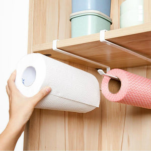 Iron Spray Kitchen Hanging Roll Paper Storage Rack