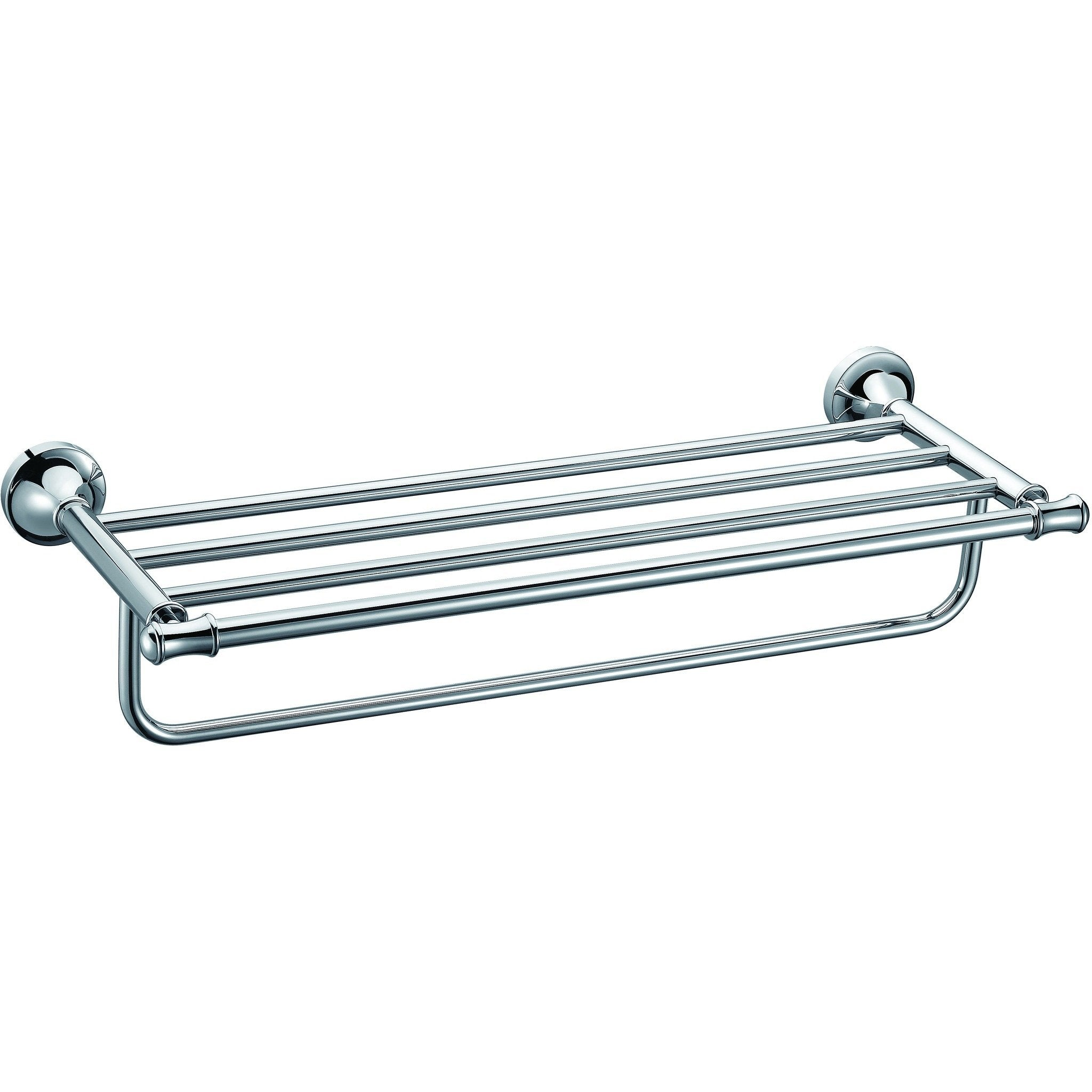 ALFI brand AB9583 Polished Chrome 23 inch Towel Bar & Shelf Bathroom Accessory