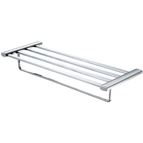 ALFI brand AB9539 Brushed Nickel/Polished Chrome 24 inch Towel Bar & Shelf Bathroom Accessory