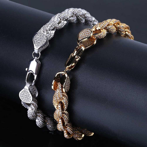Gold Silver Color Plated Twisted and Oval Link Bracelet