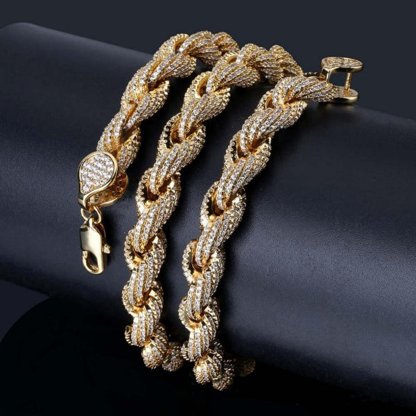 Twisted Gold Silver Color Chain Necklaces  For Men