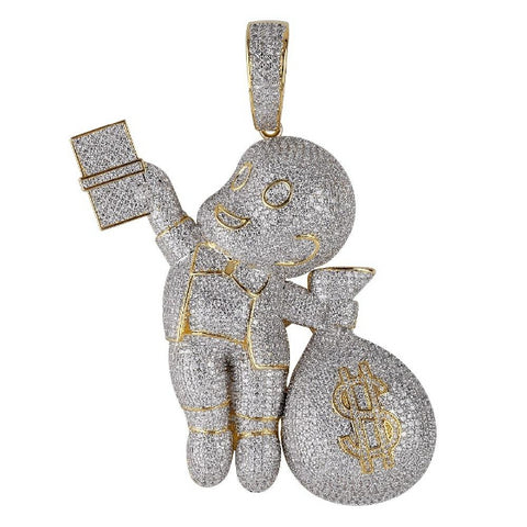 Dollar Gangster kid Pendant Gold Silver color