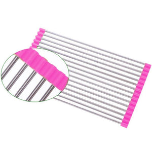 Fantastic Kitchen Roll Up Drying Rack