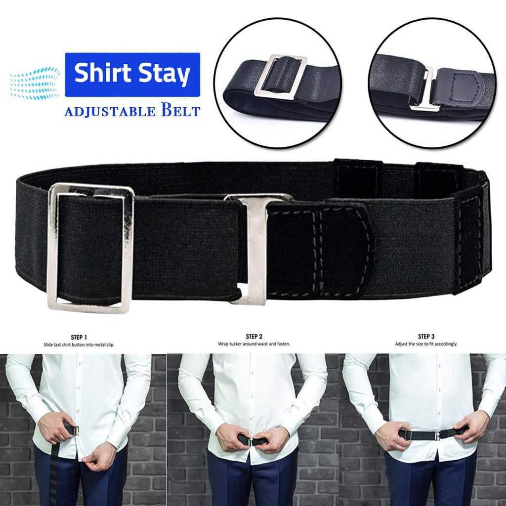 Easy Shirt Stay Adjustable Belt