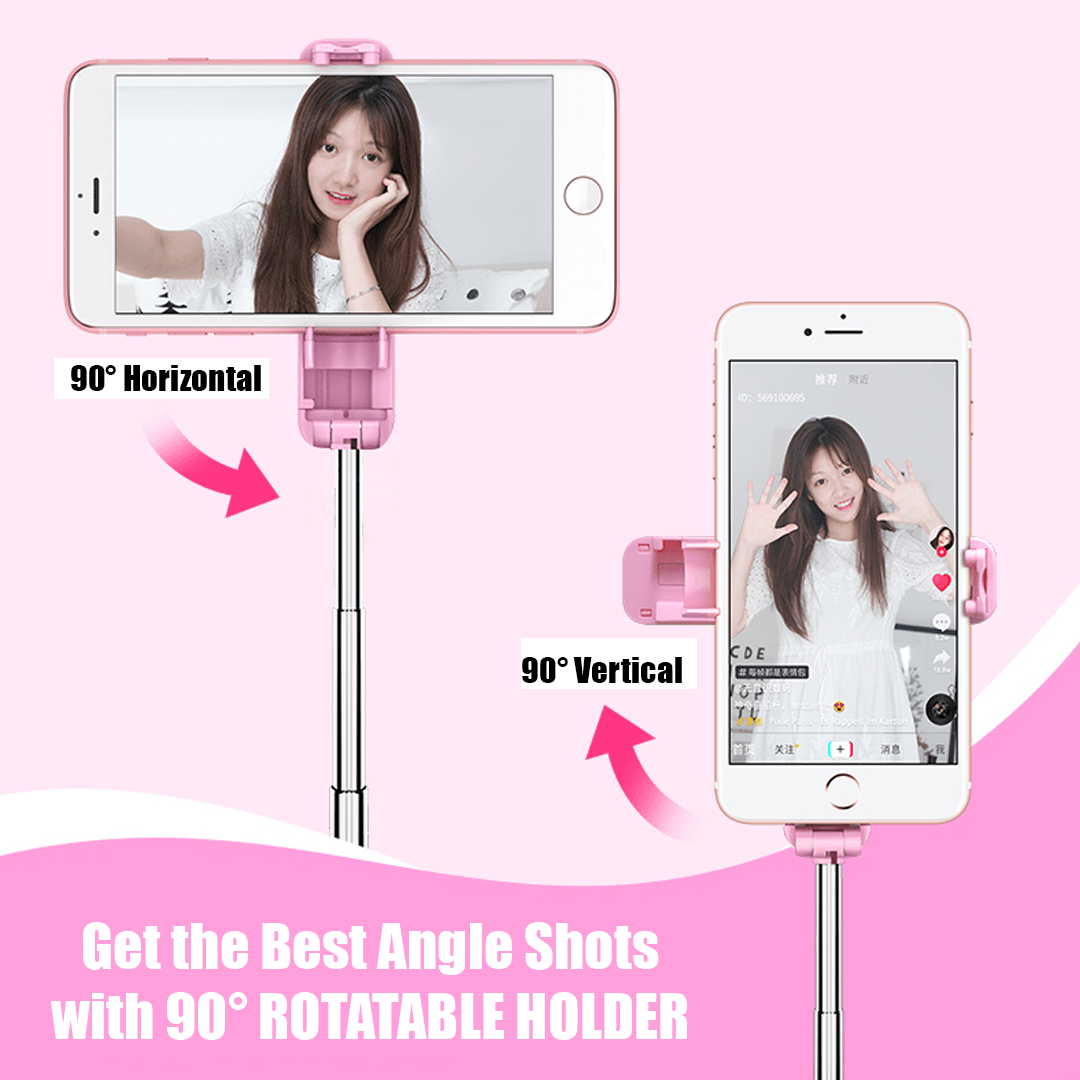 2 in 1 Portable Mini Selfie Stick