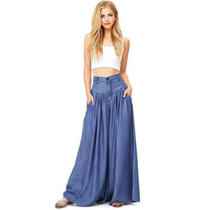 Wide-leg Casual Side Pocket Baggy Trousers