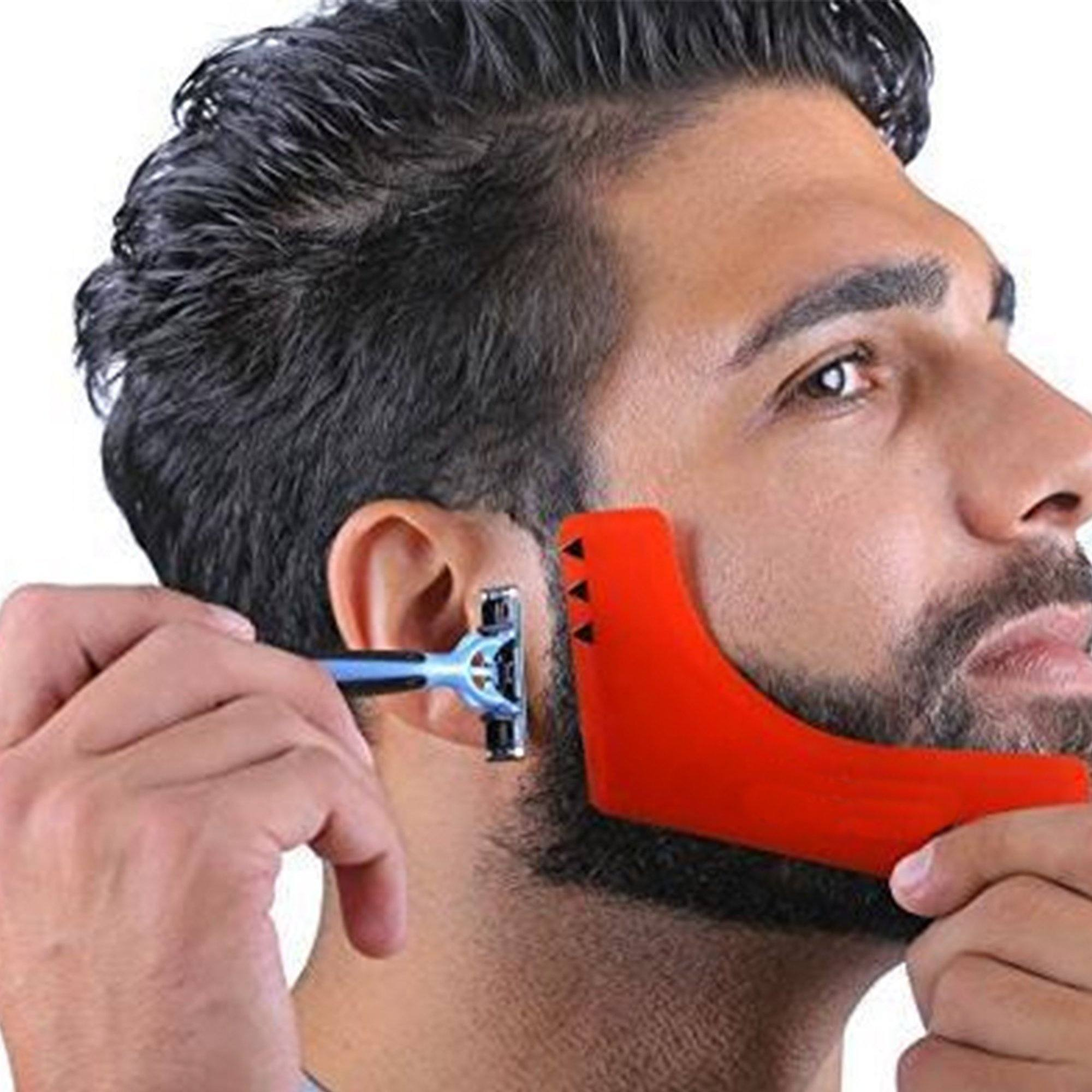 Guided Beard Shape Trimming Stencil (2 pieces)