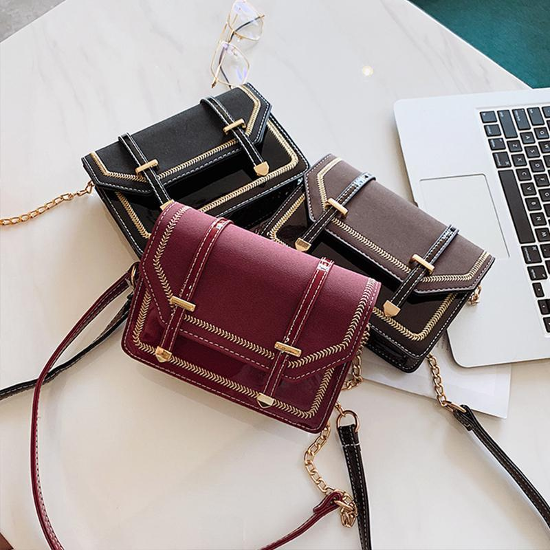 Mini Oxford Patent Leather Crossbody Bag