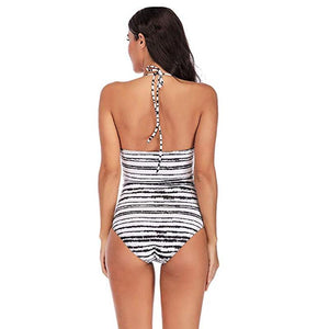 Backless Halter One-Piece Swimsuit