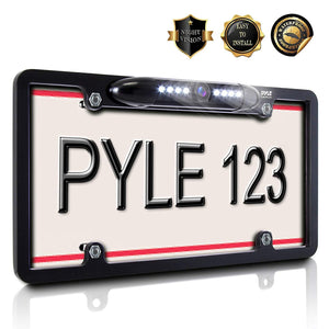 License Plate Frame View Camera