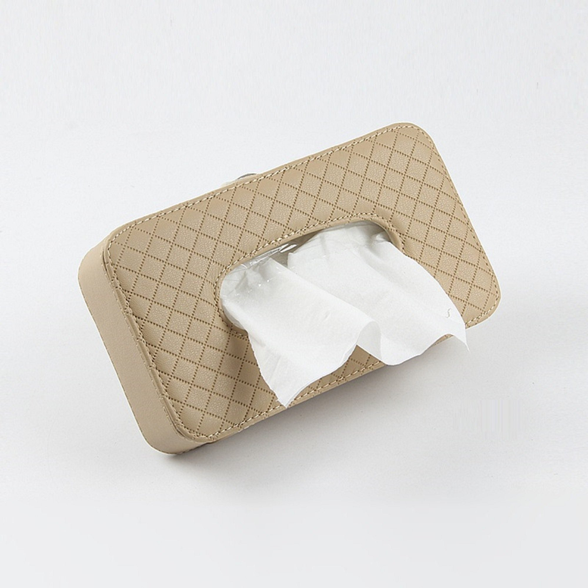 Leather Car Tissue Box - Visor Type