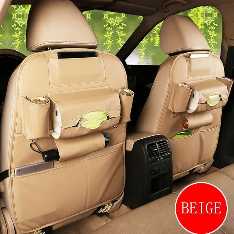 Car Seat Leather Organizer